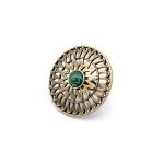 Перстень СОНЦЕКОЛО бронза, малахіт (солнцеколо)