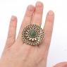 Кольцо Солнцеколо бронза нефрит