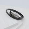 Браслет-намотка БІЛЕ ПІР'ЯЧКО магніт, black 19р.(Neolitic.Белое перо)
