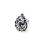 Кольцо Крина авантюрин серебро (овал)